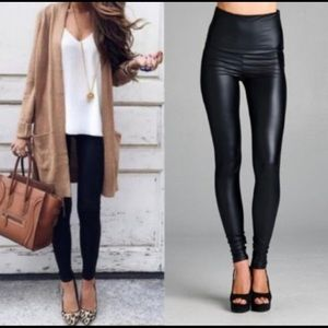 Midnight Faux Leather Legging